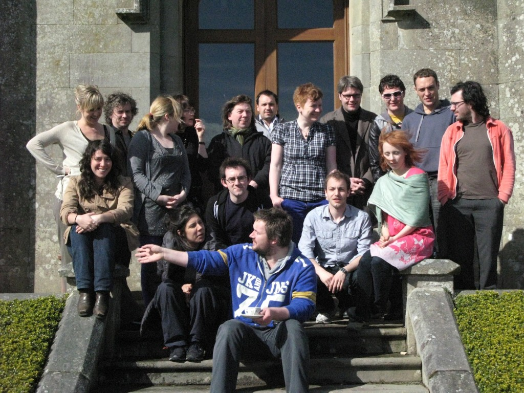 The participants of the first MAKE residency in 2009