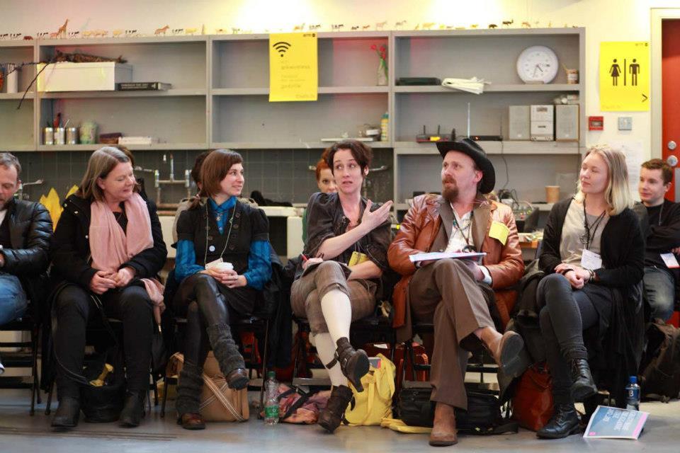 Meeting group at IETM Dublin. Photo: Senija Topcic