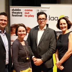 Peter Crawley, Aoife Monks, Willie White & Fiona Shaw at Voyage and Return