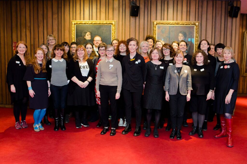 Some of those who put together the #WakingTheFeminists public meeting at the Abbey Theatre on Nov 12th 2015